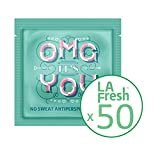 La Fresh Travel Lite Antiperspirant Wipes for Men and Women, Fresh Scent, 50 Count of Individually Sealed Packets