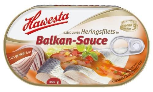 Hawesta Heringsfilet in Balkan-Sauce, 10er Pack (10 x 200 g Dose)
