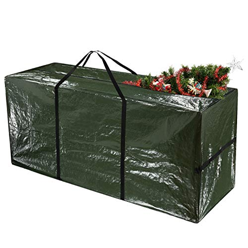 TUPARKA Christmas Tree Storage Bag for Tree up to 7 Feet Tall Waterproof Material Protects from Dust, 48' x 15' x 22' (122 x 38 x 55cm)