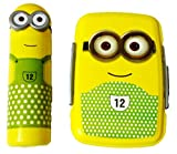 Clic-Tite DS Minion Plastic Lunch Box with Pencil Box (Yellow and Green)