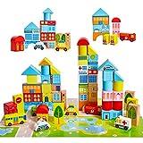 Onshine Bloques Madera Construccion Niños Juguetes con Coche Puzzle Hospital Juego Educativo Regalo para 5 6 7 8 9 Años Niños