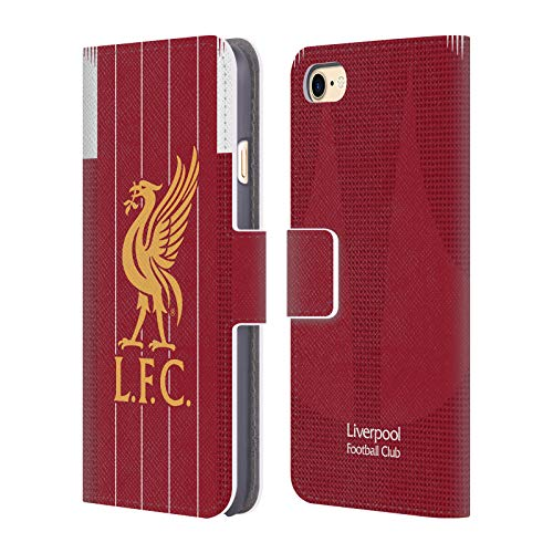 Head Case Designs Offizielle Liverpool Football Club Home 2019/20 Kit PU Leder Brieftaschen Huelle kompatibel mit Apple iPhone 7 / iPhone 8 / iPhone SE 2020