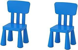 Ikea Mammut Kids Indoor/Outdoor Children's Chair, Blue Color - 2 Pack