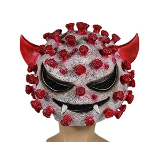 CYCY Maschera, Maschera per Copricapo da Virus, Modello di insegnamento per Oggetti di Scena di coronavirus in Lattice Horror di Halloween, Possono Essere utilizzati per Proteggere dai Virus