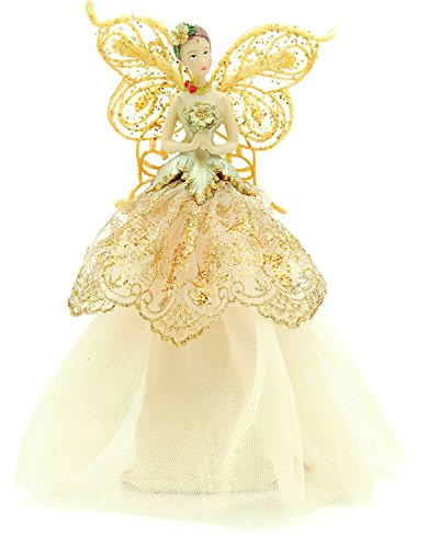 Gisela Graham Tree Topper 9' (23cm) Gold Tree Top Angel