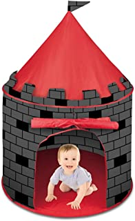 deAO Tienda Pop-Up Con Diseño De Castillo Rojo – Diseño Plegable Autoarmable – Actividad Infantil