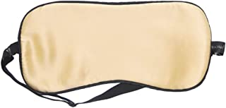 Asdfnfa (Two Pairs) Adjustable Double-Sided Silk Eye Mask to Sleep Silky Breathable Men and Women Sleep Blackout Eye Mask asdfnfa (Color : Beige)
