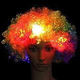 Leuchtende Kopfbedeckung Hut, Afro Perücke, leuchtende Kopfbedeckung, Clown Perücke, Fanzubehör,...
