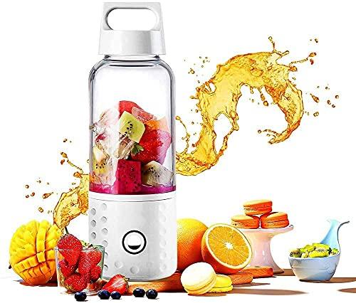 Mini licuadora eléctrica de Mini Juicer Juicer 500ml con 4 cuchillas de acero inoxidable mezclador de la fruta Baby Baby Food Blender para el hogar, oficina, deportes, viajes BPA gratis exprimidor aut