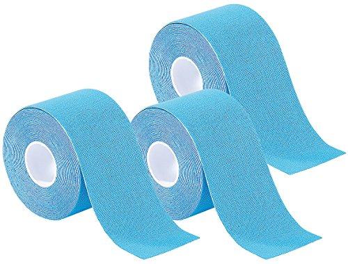 newgen medicals Sporttape: Kinesiologie-Tape aus Baumwollgewebe, 3er-Set, blau (Bandage-Band)
