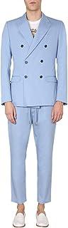 Dolce e Gabbana Luxury Fashion Mens GKO9ETFU5SZB1932 Light Blue Suit | Spring Summer 20