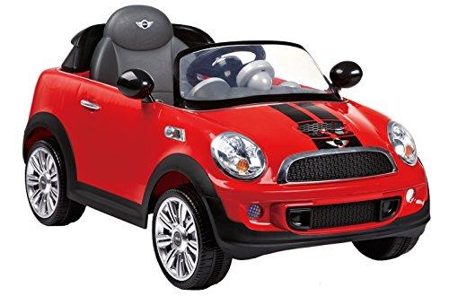 ROLLPLAY Premium Elektrofahrzeug mit Fernsteuerung und Rückwärtsgang, Für Kinder ab 3 Jahren, Bis max. 35 kg, 12-Volt-Akku, Bis zu 5 km/h, MINI Cooper S Roadster, Rot