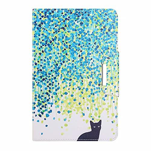 TTNAO Funda Folio para Compatible con Samsung Galaxy Tab E 9.6 T560 Funda, PU Estuche Plegable Estuche Tipo Anti-Arañazos Anticolisión-Gato Hoja