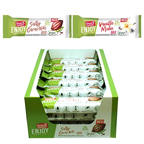 Power System Enjoy Protein Riegel, vegan 14 x 45g (Mix Pack)