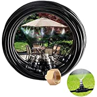 Cairondin Outdoor 26ft Misting Cooling System with 7 Metal Mist Nozzles