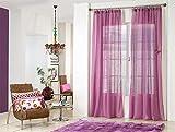 Rioma Brisa - Cortina visillo, Violeta y morado, 200 x 270 cm