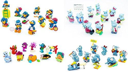 Kinder Überraschung Vier verschiedene Ü-Ei Sätze: Happy Hippo Company - Aqualand - Fanten im Cluburlaub - Bingo Birds (40 Figuren)