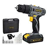 Werktough 18/20V Cordless Drill Driver Li-ion Battery 2 Variable Speed Fast Charger Powerful...
