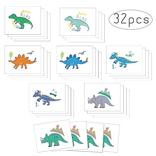 Non-Toxic Dinosaur Temporary Tattoos for Kids Great Children Party Favors Dino Birthday Party