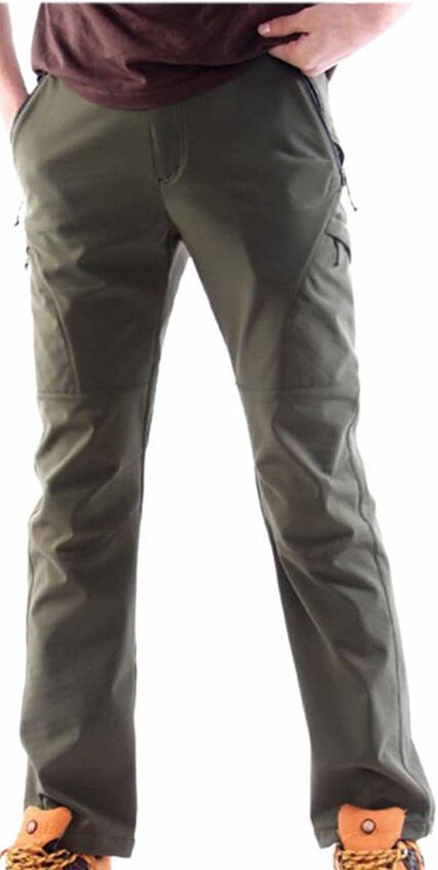 HTOOHTOOH Men's Winter Waterproof Softshell Fleece-Lined Stylish Outdoors Pants