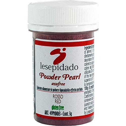 Colorante alimentare in polvere perlato (Rosso) 3g