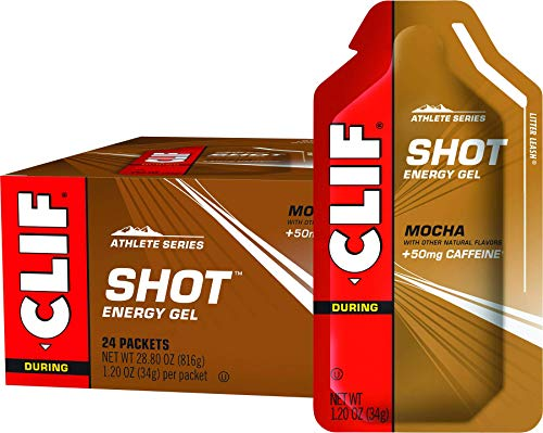 Clif Shot Energy Gel Mocha Organic 12 Ounce 24 Count