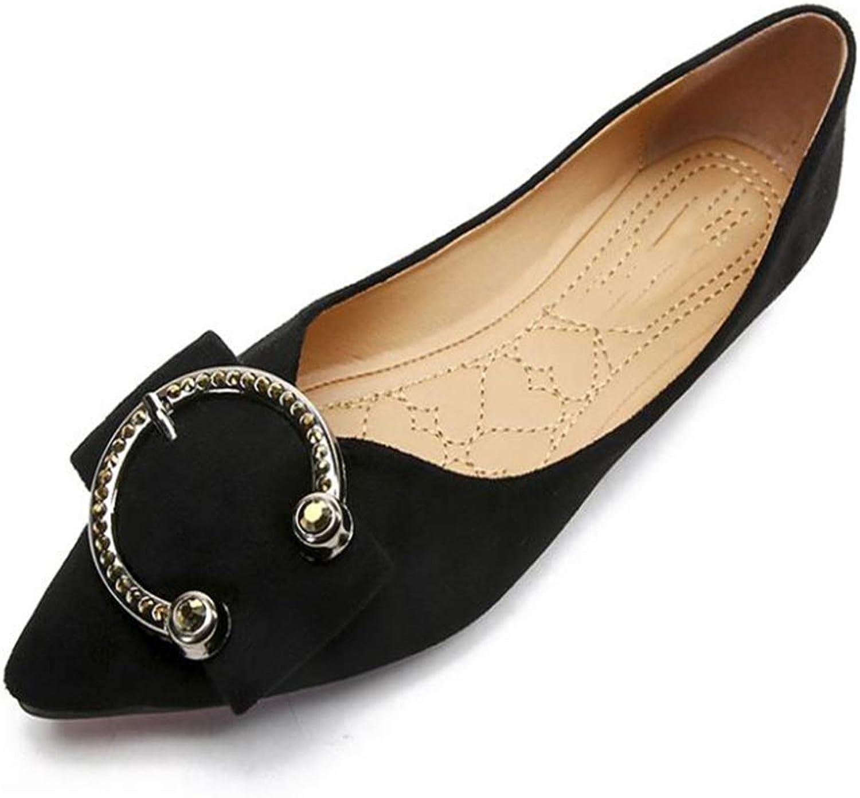 Gusha Women's Flat shoes Soft peas shoes Comfortable Egg roll shoes