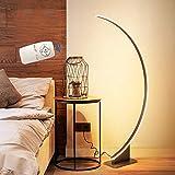 VOMI LED Mit Dimmbare Fernbedienung Stehlampe, 52W Stehleuchte Nachttischlampe, Modern Bogenlampe, Schlafzimmer Bogenleuchte, Für Wohnzimmer Bar Büro Wohnheim Restaurant, Braun