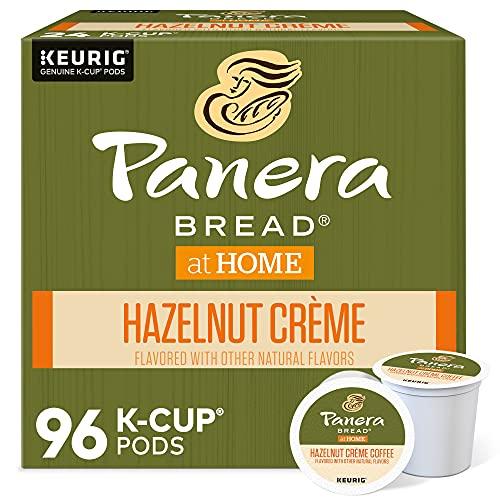 Panera Bread Hazelnut Crème, Single-Serve Keurig K-Cup Pods, Flavored Light Roast Coffee, 96 Count