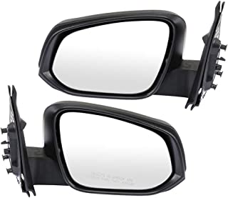 TUPARTS Rear View Mirrors Left and Right Side Towing Mirrors Compatible with 2016 2017 2018 Toyota Tacoma with Manual Folding Power Adjustment Heated