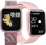 Relogio Smartwatch Feminino P80 Rose Inteligente Bluetooth Whats IOS Android Cor Rosa