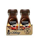 NESCAFÉ CLASSIC NATURAL todo aroma y sabor, café soluble, 100 % café, frasco de vidrio, Pack de 2 x 200 g