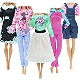 BJDBUS 5 Sets Casual Outfit Fashion Dress Handmade Clothes for 11.5 inch Girl Doll