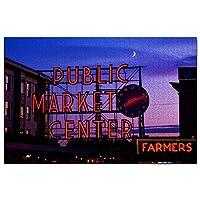 アメリカアメリカパイクプレイスマーケットシアトルジグソーパズル1000ピースゲームアートワーク旅行お土産木製