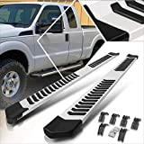 (2Pcs) Aluminum 6 Inch Silver/Black Running Boards,Side Step Bars Compatible with 99-16 Ford F150-F450 Extended Cab