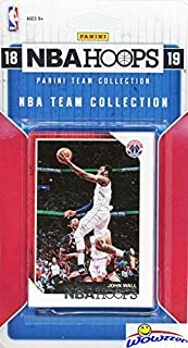 Washington Wizards 2018/2019 Panini Hoops NBA Basketball EXCLUSIVE Factory Sealed Limited Edition 10 Card Team Set with Bradley Beal, John Wall, Otto Porter Jr, Dwight Howard & Many More! WOWZZER!