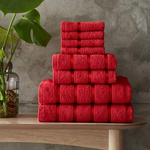 Gaveno Cavailia Juego de Toallas Boston de 8 Piezas, 100% algodón, Rojo, Towel Bale