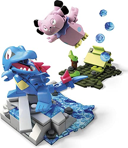 Mega Construx Pokemon Combat Kaiminus contre Snubbull, jeu de construction, 119 pièces, pour enfant dès 6 ans, FVK70 [Exclusif Amazon]