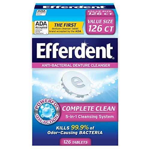 Efferdent Original Anti-Bacterial Denture Cleanser Tablets 126 ea