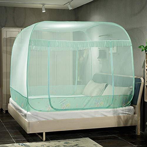 K.W Mosquito mosquitero Plaza Libre de instalación de Red de Interior de Tipo de Tres Puertas eficaz contra el Mosquito Plegable Cama de Matrimonio Lili (Color : Pink, Size : 1.5m)