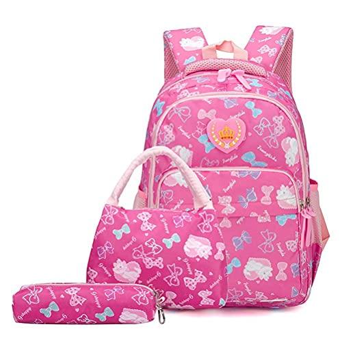 WYZXR Neue Studentenrucksäcke Niedliche Schultaschen Bookbag Set für Teen Mädchen Grundschüler wasserdichte Leichte Grundschule Reisetasche, Schulrucksäcke
