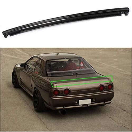 MISSLYY AleróN Trasero del Coche Fibra De Carbono/ABS Carbono Tapa Maletero ala Trasera Labio De AleróN De Techo ala Modelado Accesorios De ModificacióN para Nissan Skyline R32 GTR 1989-1994
