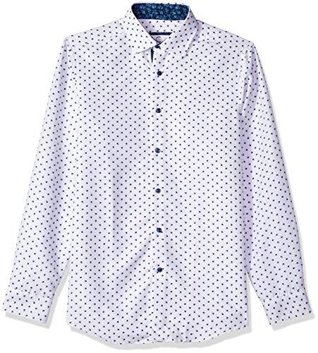 Azaro Uomo Mens Long Sleeve Dress Shirt Casual Button Down Slim Fit