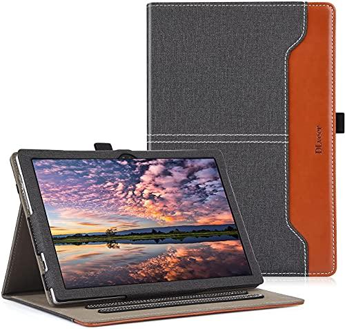 DLveer Funda para Blackview Tab 9 Tablet 10.1 Pulgadas, Protección de 360 Grados Apoyo Múltiples ángulos con Bolsillo de Almacenamiento para Blackview Tab9 10.1'', Denim Negro