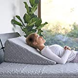 Brentwood Home Crystal Cove Wedge Pillow - Cooling Activated Charcoal Memory Foam, Helps with Snoring & Acid Reflux, Made in California