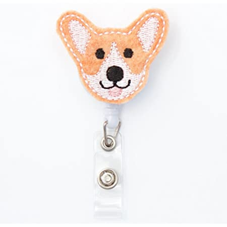 Corgi Gifts Corgi Dad Gifts Corgi Security ID Holder Corgi Mom Gifts Corgi Badge Reel Corgi Retractable Badge Reel