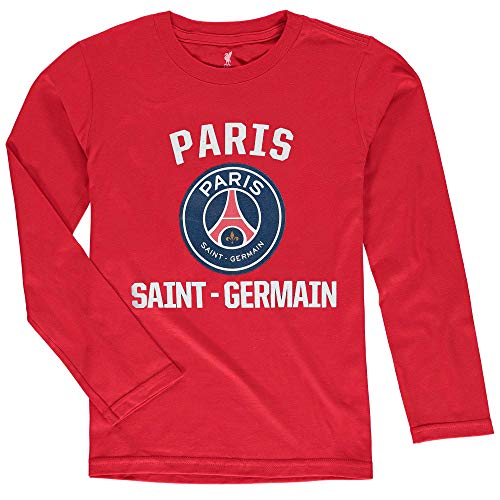 Outerstuff International - Camiseta de manga larga con logotipo principal para jóvenes, Paris Saint-Germain F.c. rojo., 18-20