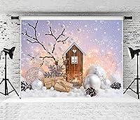 パーティーの装飾の写真の背景クリスマスの写真の背景Chirstmasツリーの子供のポートレート写真の背景写真スタジオのパーティーの装飾の小道具バナー