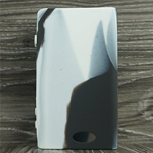 Silicone Case for Sigelei Fuchai 200w Box Mod Sleeve Cover Skin Wrap (White/Black)