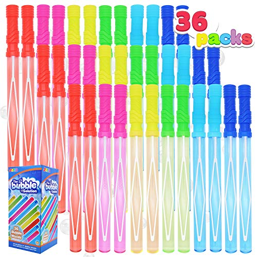 JOYIN 36 Pack 14'' Big Bubble Wand Assortment for Kids, Bubble Blower for Bubble Blaster Party Favors, Summer Toy, Birthday, Outdoor & Indoor Activity, Easter